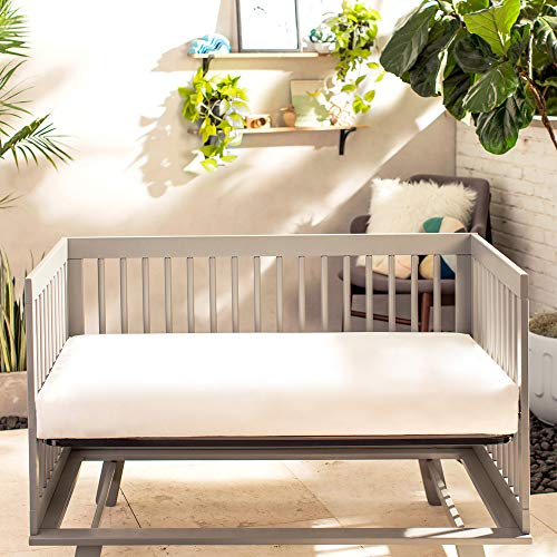 Naturepedic Classic Organic Crib Mattress (Lightweight) 2-Stage | 100% Certified - Safe Baby Bed
