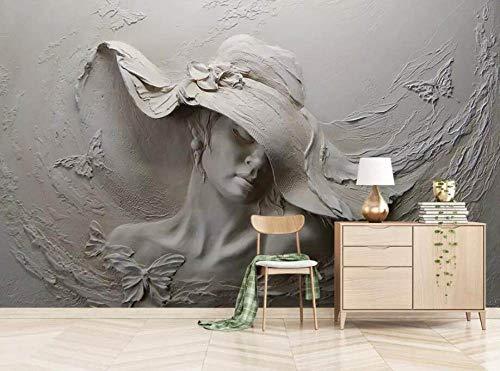 Tapeten Custom Wallpaper 3D Große Landschaft Im Europäischen Stil Frau Mit Hut Wandmalerei Moderne Dekoration Hd Kunstdruck Poster Bild Foto Für Wohnzimmer Wanddekoration 480 Cm (W) X 290 Cm (H) |