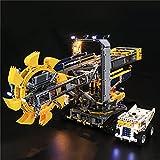 LYCH Juego de iluminación LED para excavadora de pala Lego Technic 42055, iluminación compatible con la técnica Lego 42055, sin juego Lego.