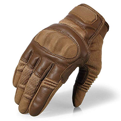 Gant Gant Femme Gants Moto Full Finger Tactical Army Gloves Military Paintball Shooting Airsoft Bicycle Combat PU Leather Touch Screen Rubber Hard Knuckle