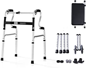 PXY Walking Frame,Aluminum Foldable Walking Mobility Aid,Rollator, 2-in-1 Walker with Pu Seat and Wheels,for Elderly 3 Whe...