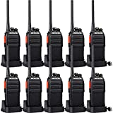 Retevis H-777S Long Range Walkie Talkies,2 Way Radios for Adults,Rechargeable Two Way Radio,VOX Hands Free Durable Strong Signal,Security Church School Business (10 Pack)