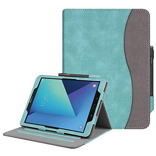 Fintie Funda para Samsung Galaxy Tab S3 9.7' - [Protección de Esquina] [Multiángulo] Carcasa con Bolsillo Función de Soporte y Auto-Reposo/Activación para Modelo SM-T820/T825, Verde Menta