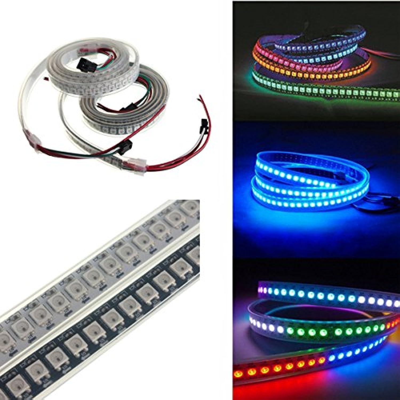 JINHUGU 1 Mt 43,2 Watt WS2812B 5050 RGB Wasserdichte IP67 LED Streifen Lichtfarbe ndern Individuelle Adressierbare DC5V New (Farbe   Shell Farbe Weiß PCB)