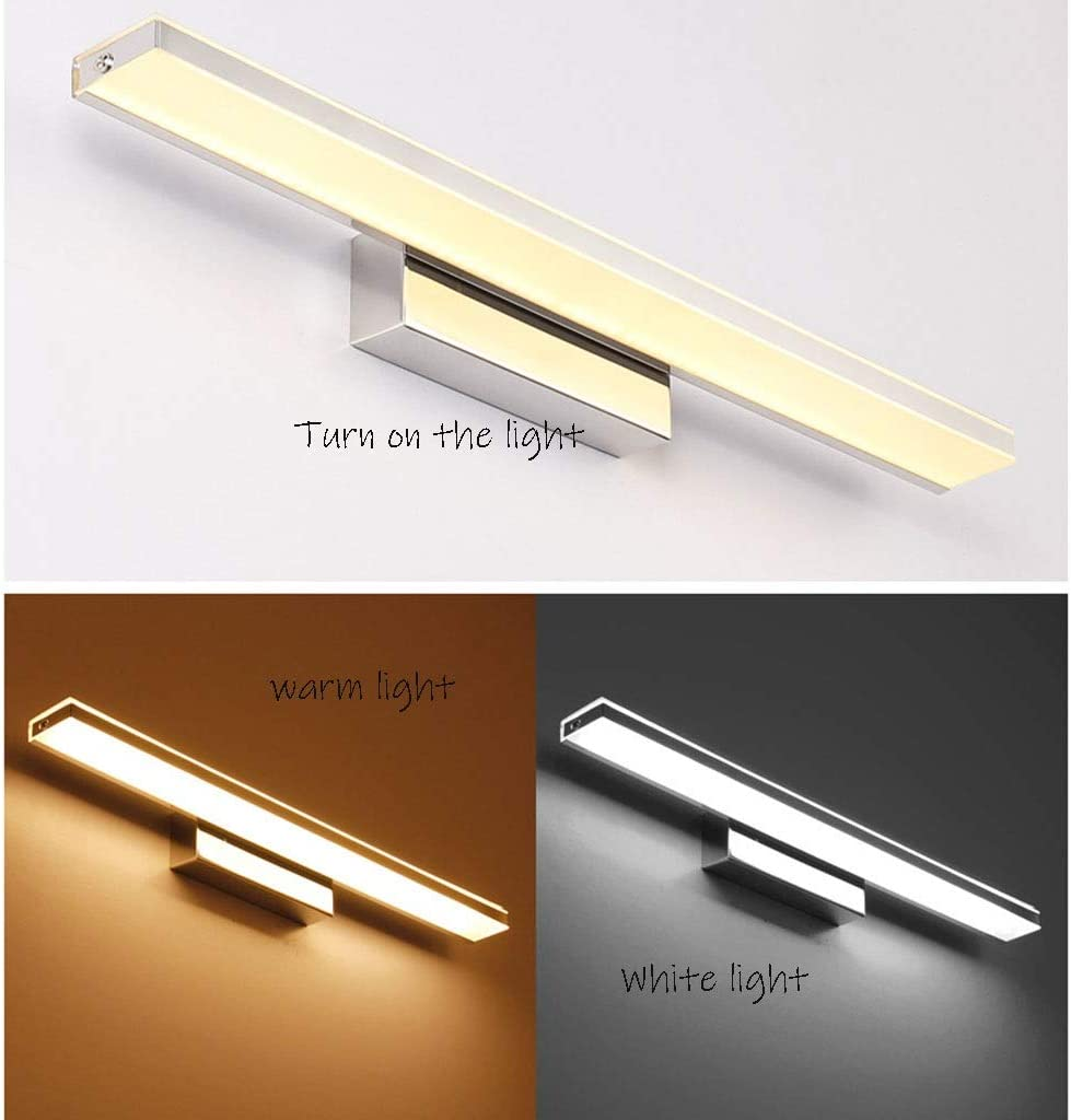 -badezimmerlampe LED-Badezimmer-Eitelkeit beleuchtet wasserdichte und beschlagfreie Schlafzimmer-Ankleidezimmer-Lampe Acryl-Edelstahl Badleuchte (Color : B-92cm) B-72cm