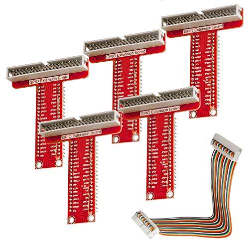 AZDelivery 5 x GPIO Breakout for Raspberry Pi 3 / Zero / 2 / B + / A + including eBook