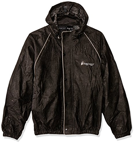 FROGG TOGGS Road Toad Jacket, Black, X-Large