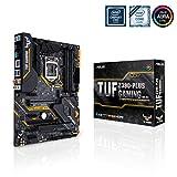 ASUS TUF Z390-PLUS Gaming Wi-Fi Scheda Madre Gaming Intel Z390 ATX con OptiMem II, Aura Sync RGB, Supporto DDR4 a 4266+ MHz, 32 Gbps M.2, Predisposizione Memoria Intel Optane e USB 3.1 Gen 2 Nativo