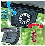 HVH SHOP Auto Cool Solar Powered Ventilation Exhaust Fan, Solar Power Car Auto Cool Air Vent with Rubber Stripping Car Ventilation Fan
