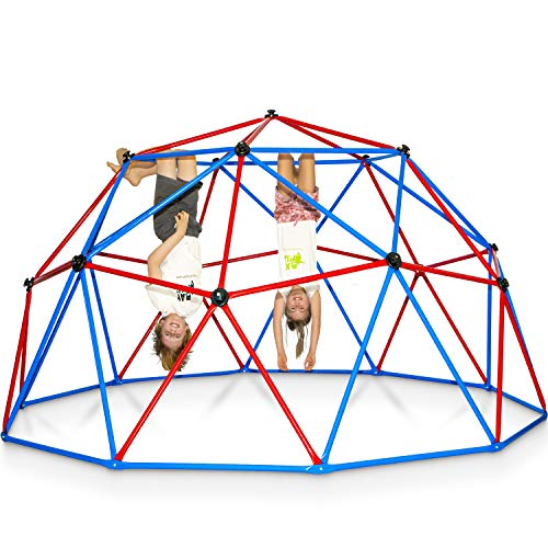 Play Wild Kids Climbing Dome Jungle Gym - 10 ft Outdoor Geodesic Dome Climber for Kids, Supports 750lbs, Extra Rust Protection Easy Assembly