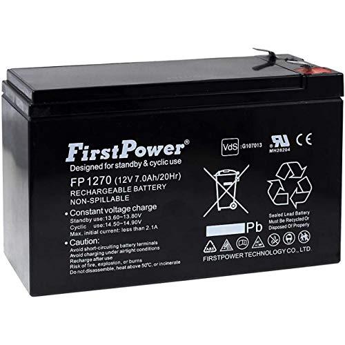 FirstPower Batería de Gel para SAI APC Back-UPS CS 350 7Ah 12V
