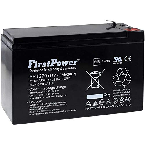 FirstPower Blei-Gel-Akku für USV APC Back-UPS BK500-UK 7Ah 12V, 12V, Lead-Acid