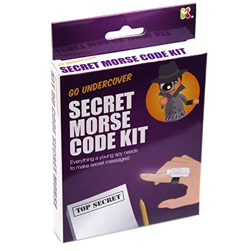 Blue Frog Toys Morse Code Kit / Toy - Everything A Young Spy Needs To Make Secret Messages