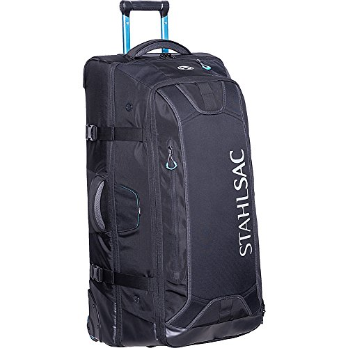 Stahlsac 34' Steel Wheeled Checked Luggage (Black)