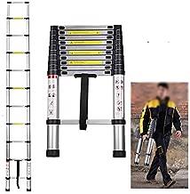 Multi-Purpose Aluminium Telescopic Ladder Extension Foldable Ladder for Home DIY Project Extendable Telescopicing 3.2M/10.5FT