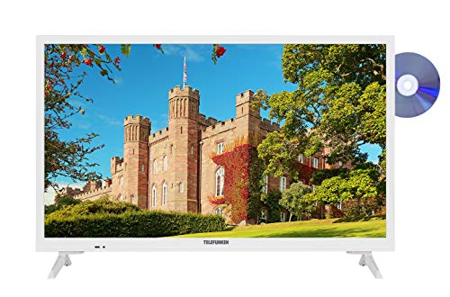 Telefunken XH24J101D-W 60 cm / 24 Zoll Fernseher (HD Ready, DVD-Player, Triple-Tuner) [Modelljahr 2020]