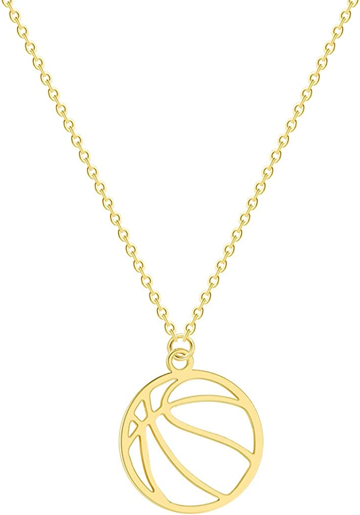 Dwcly Max 74% OFF Minimalist Hollow Basketball Pendant for Necklace Oklahoma City Mall Sp Teens