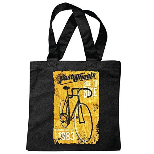 Tasche Umhängetasche Fast Wheels Ride to Bike RENNRAD Tour RENNRADFAHREN Fahrrad Mountainbike FAHRRADREPARATUR RADRENNSPORT FAHRRADTOUR BIKESHIRT Ride Einkaufstasche Schulbeutel Turnbeutel in Schwa