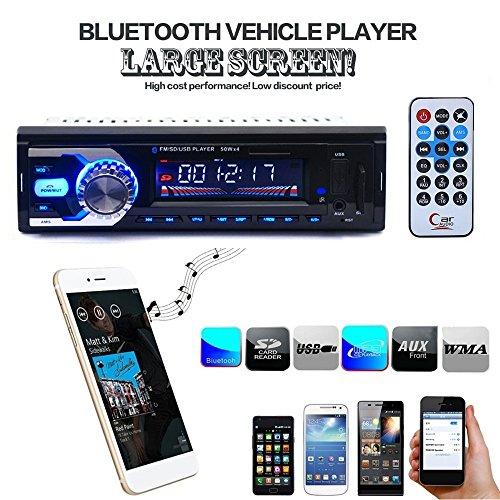 Boomboost Car Radio FM stéréo au Tableau de Bord Bluetooth tête Lecteur MP3 / USB/SD/AUX pour iPod