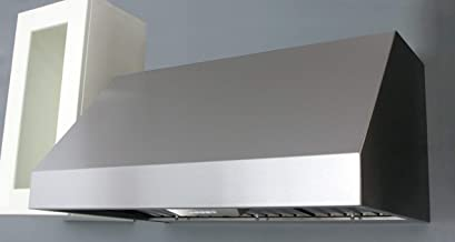 Miseno MH70248BS 390-1200 CFM 48 Inch Wide Professional Stainless Steel Wall Mounted Range Hood with Dual Halogen Lighting System