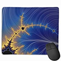 """Abstraction Fractal Lines Blue Yellow Mouse Pad Non-Slip Rubber Gaming Mouse Pad Rectangle Mouse Pads for Computers Desktops Laptop 9.8"""" x 11.8"""""""