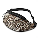 DFCC Riñonera Casual Lilies and Roses Fanny Pack Waist Bag For Outdoor Travel Hiking Festivel, Adjustable Belt For Men & Women