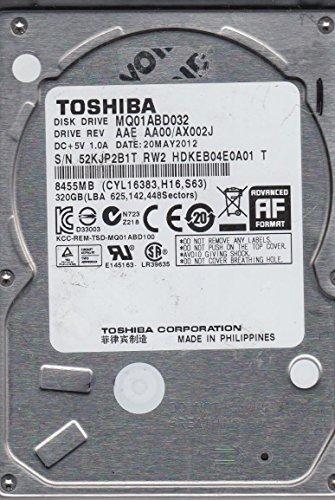 Toshiba MQ01ABD032Interne Festplatte, AA00/ax002j, hdkeb04e0a01T, 320GB SATA 2,5Festplatte