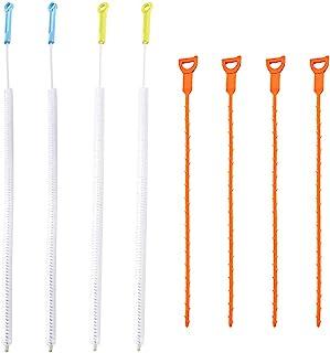 SENHAI Lot de 8 outils de débouchage de canalisations, brosse de nettoyage pour plomberie, toilettes, salle de bain