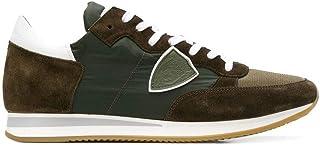 Luxury Fashion | Philippe Model Men TRLU1115 Green Fabric Sneakers | Spring-summer 20