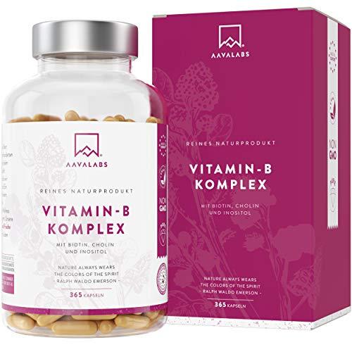 Vitamin B Komplex Hochdosiert - 6 Monate Vorrat (180 Kapseln) - enthält 8 essentielle B Vitamine inkl. B12 B1 B6 B7 mit Biotin und Folsäure - 100% vegan - getestet durch unabhängige Drittlabore