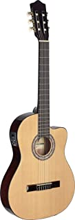 Stagg Full-Size Classical Cutaway Acoustic-Electric Guitar - Natural