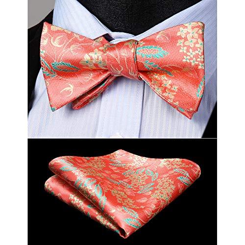 CDBGPZLD Seda Corbata Set Conjunto de pañuelo de pajarita de boda par