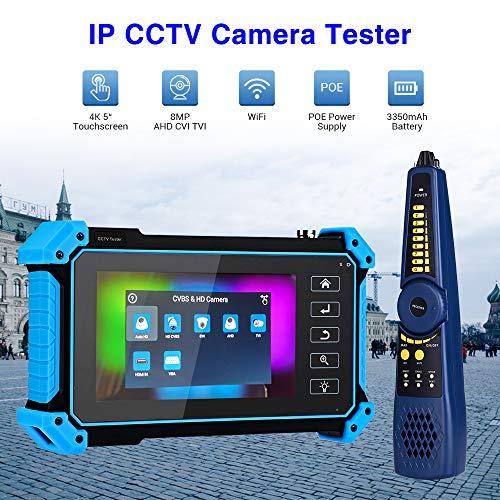 Elikliv 5 Zoll 8Mp IPC-Kamera-Tester Ahd Cvi Tvi Cvbs Analogen Monitor Test LCD 4K H. 265