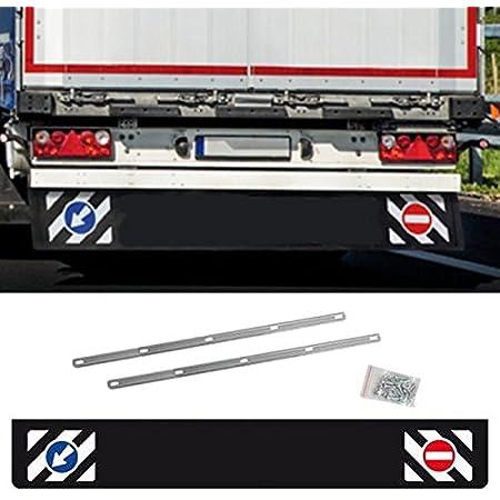 Autoscheich Universal Schmutzfänger Hinten Lang 240x35cm Lkw Anhänger Auflieger Schutz Spritzlappen Mit Verkehrszeichen Auto