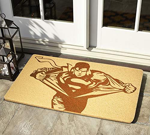StarlingShop Superman Felpudo para puerta con diseño de Superman DC Comics, felpudo de bienvenida, para decoración del hogar, regalo de cumpleaños, regalo de casa nueva