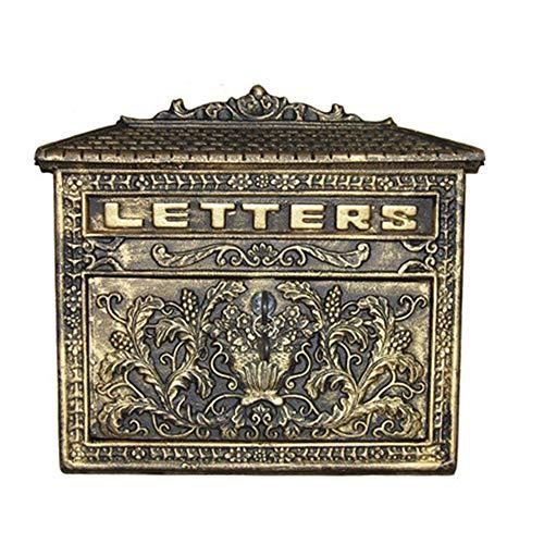 WanuigH Wandmontage, brievenbus, retrodesign, klassieke brievenbus, externe brievenbus, verticale regenbescherming ter bescherming tegen roest, EA-testen van tijd Letter Box