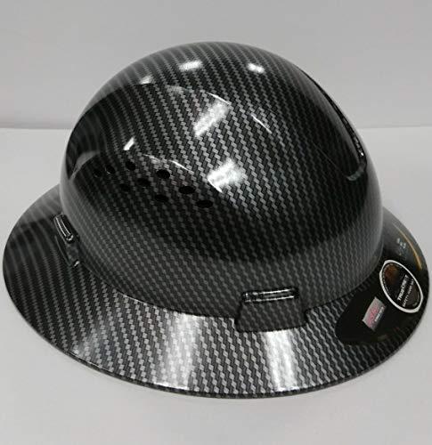 TRUECREST Hydro Dipped Black Full Brim Hard Hat