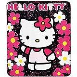 Blanket - Hello Kitty - Black Sunflwers New 50x60 Fleece Throw 70331 by Hello Kitty