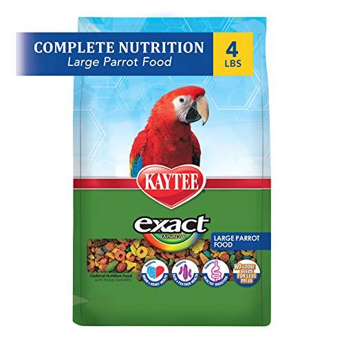 Kaytee Exact Rainbow Bird Food for Large Parrots, 4-Pound