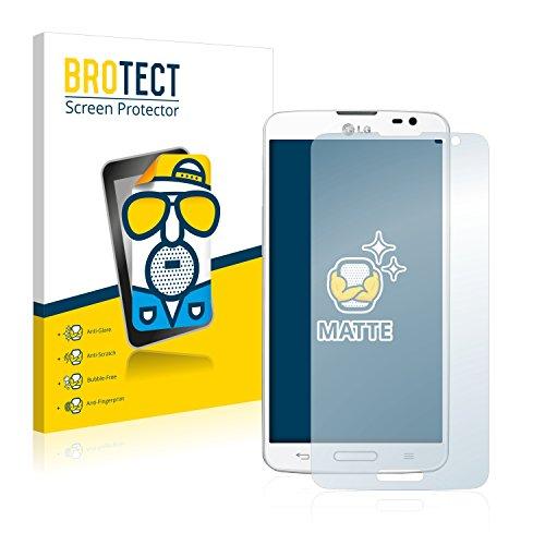BROTECT 2X Entspiegelungs-Schutzfolie kompatibel mit LG G Pro Lite D682 Bildschirmschutz-Folie Matt, Anti-Reflex, Anti-Fingerprint