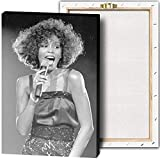 Whitney Houston Sänger-Wandkunst, Leinwandbild, Poster,