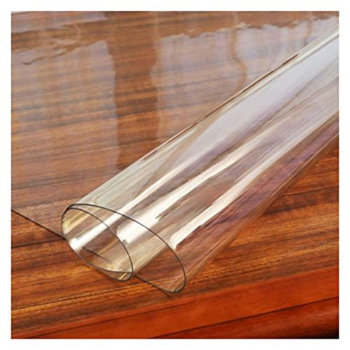AWSAD Sedia da Ufficio Mat 1,5 mm/2 mm/3 mm di Spessore Tappetino Rigido Trasparente Rettangolare Impermeabile Protezione del Pavimento, 17 Taglie (Color : 2mm, Size : 90X90cm)