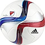 adidas Performance 2015 MLS Top Glider Soccer Ball, White/Power Red/Solar Blue, Size 3
