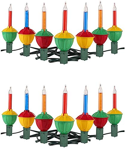 Tupkee Christmas Bubble Lights – Set of 7 Multi-Color Lights - Bubble Lights for Christmas Tree Holiday Decor - 2 Pack (Total 14 Lights)