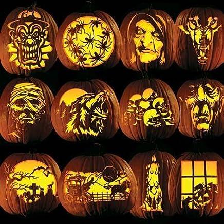 Amazon pumpkin carving tattoo patterns classic frigthful