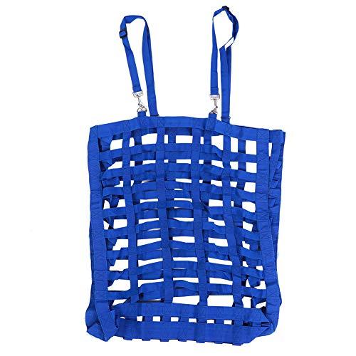 Keenso Höbalväska, stor kapacitet, ventilera bra, häst långsamt matad väska, halmbal städad väska, handtag bära balväska, förvaringsväska, för ryttare hästmatare, ridutrustning (blå)
