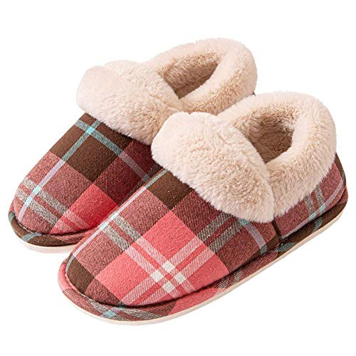 Zapatillas Casa Hombre Mujer Invierno Zapatillas De Mujer para Mujer, Bonitos Zapatos para El Hogar, Pareja, Interior, Antideslizante, De Invierno, Cálidas, Zapatillas De Algodón, Bolsa De T