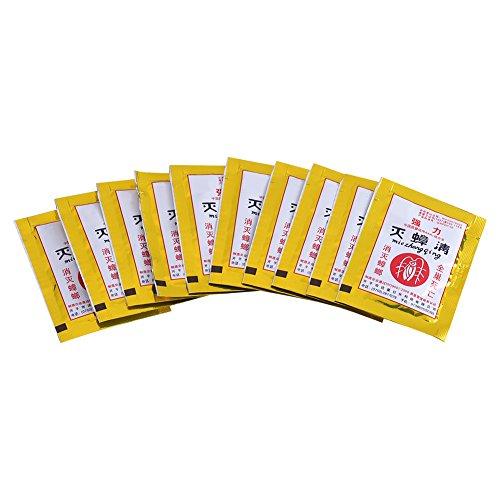 Acogedor ゴキブリ薬 ゴキブリ避け ゴキブリをすばやく排除する ゴキブリ駆除剤 パウダー 清潔で健康的な環境を創造する 10パックセット