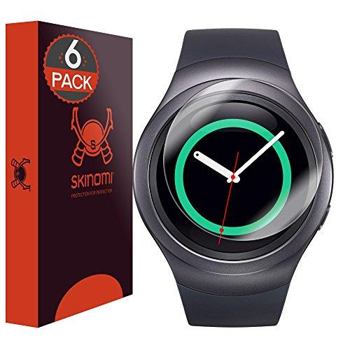 Skinomi TechSkin - Schutzfolie für Samsung Galaxy Gear S2, 6er Pack