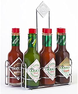 TABASCO Pepper Sauce Chrome Caddy with 7 Family of Flavors